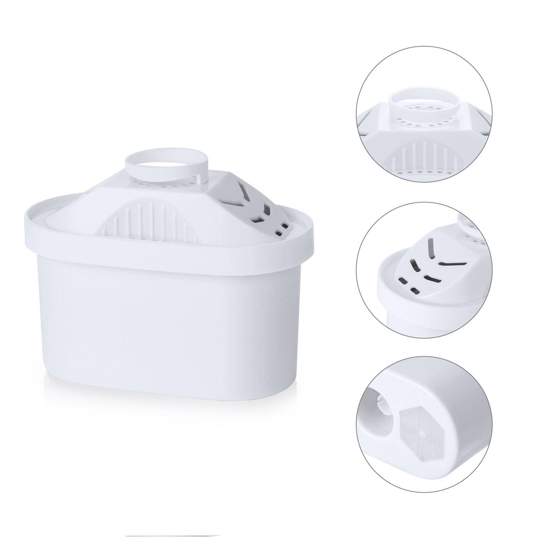 4 paquetes de repuesto para filtros de jarras Maxtra y Brita Mavea, cartucho, elimina el cloro y el olor desagradable del agua y a su vez la ablanda: ...