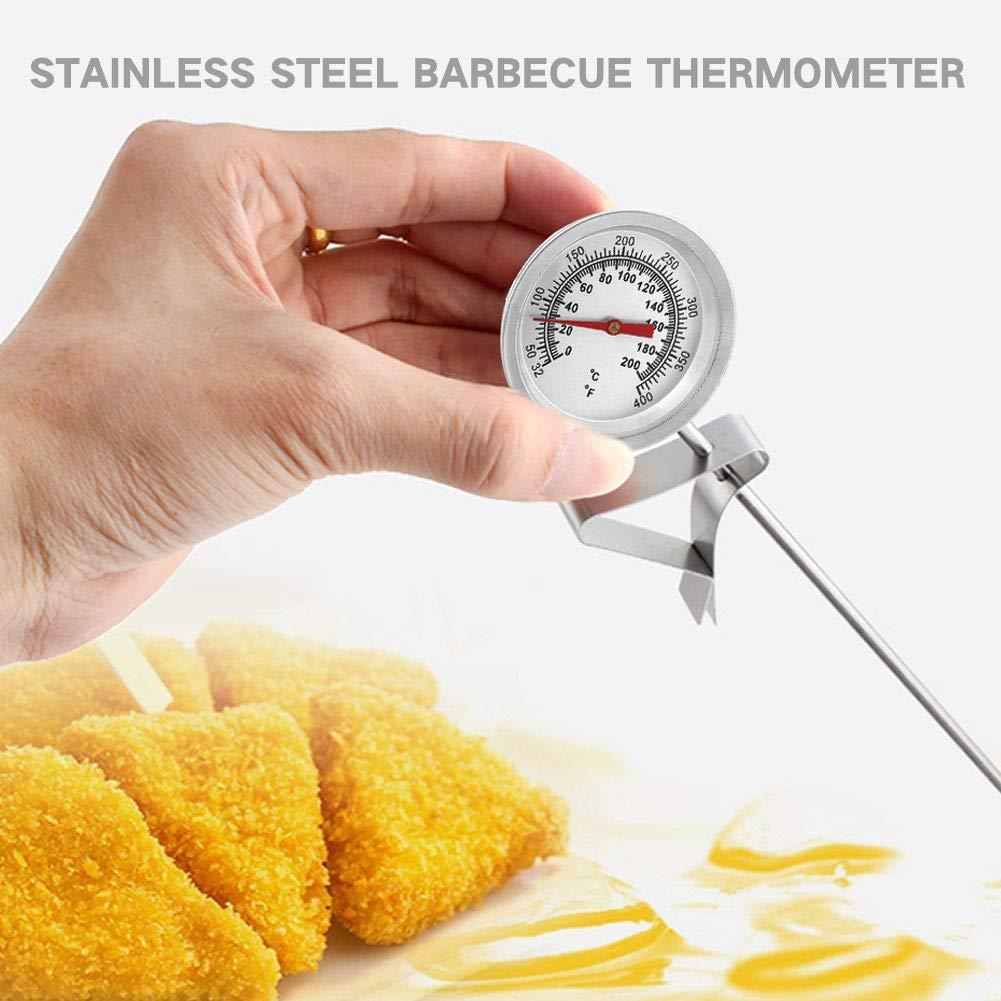 SHUNYUS Thermom/ètre /à sonde Alimentaire thermom/ètre de Cuisson /à Lecture instantan/ée Jx-5F en Acier Inoxydable BBQ Thermom/ètre Cuisine thermom/ètre /à Cadran