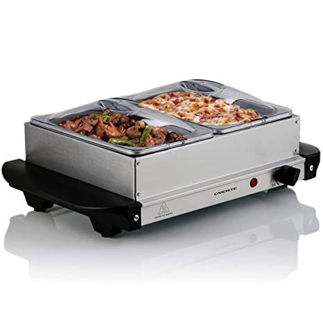 amazon com ovente fw152s electric buffet server with warming tray rh amazon com electric buffet server target electric buffet server canada