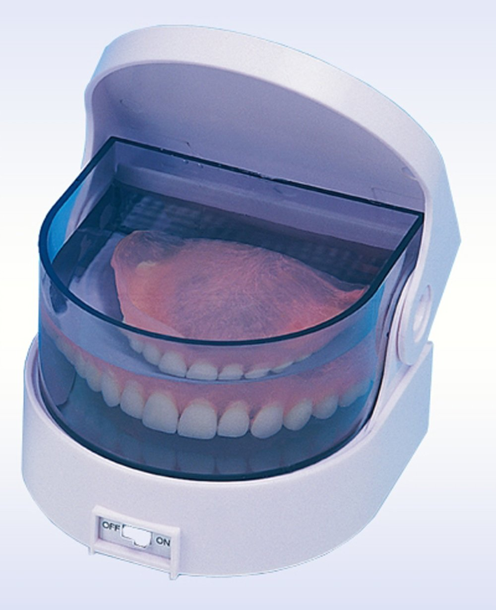 Sonic Cordless Denture Cleaner Portable Battery Operated Vibrating Jewelry Coins Cleaning Machine
