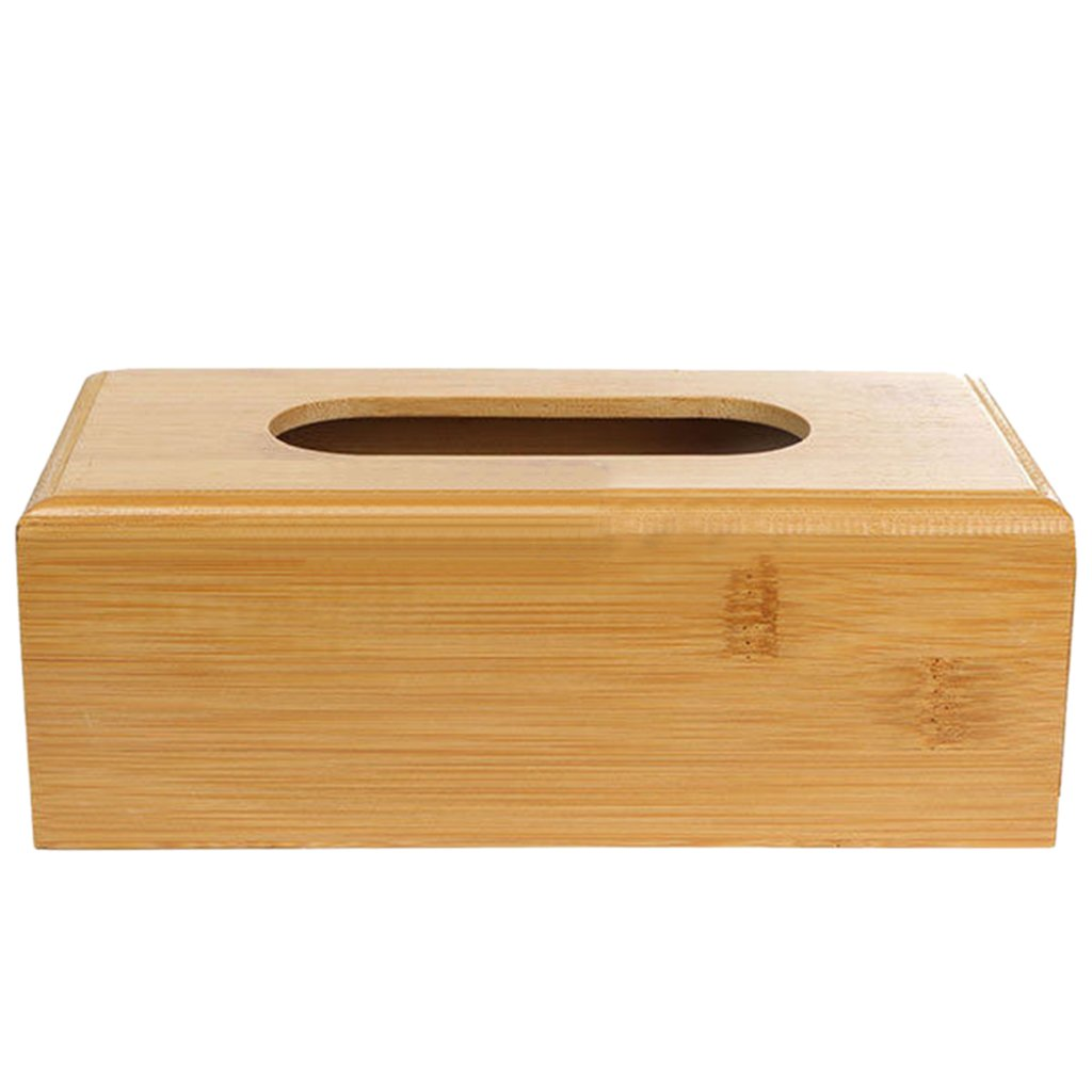 Homyl Wood Tissue Paper Storage Box Table Car Napkin Case Cover Holder L for Home Hotel Office