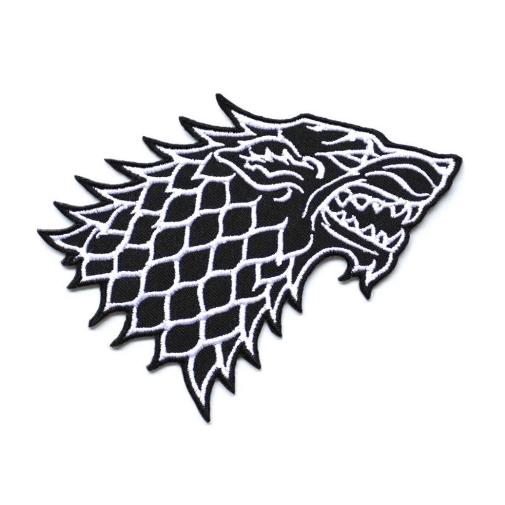 1846ea84d71f2 STARK WOLF IRON ON PATCH 5