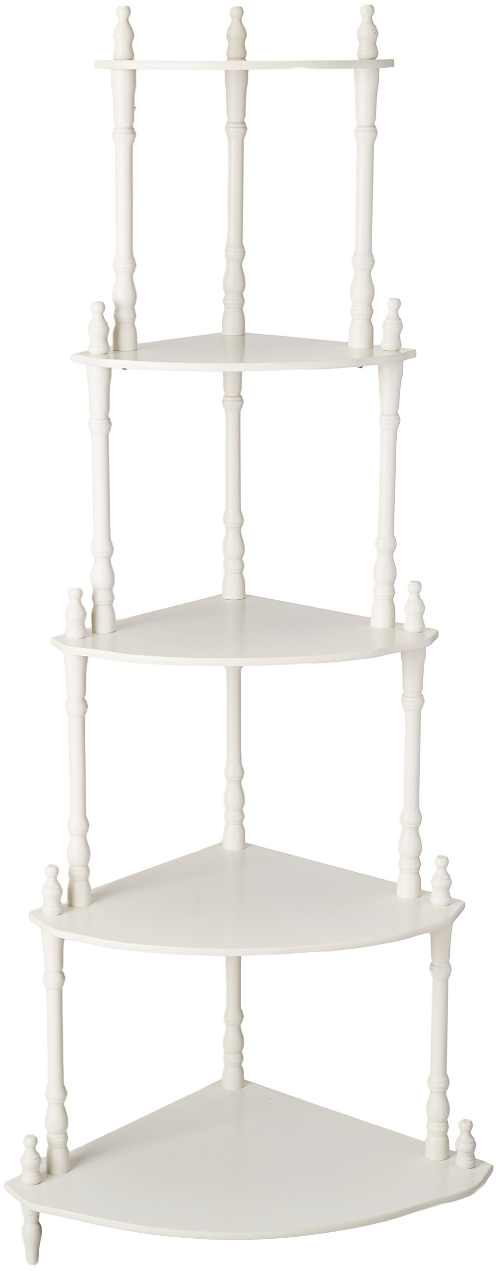 Frenchi Furniture - 5-Tier Corner Stand Finish: White by Frenchi (Image #1)
