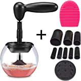 Eliza Beauty- Makeup Brush Cleaner Kit,Professional Portable Electric Cleaner Ensures Fewer Breakouts and Healthier Skin,Cleans and Dries in Seconds,Perfect Gift for Mom, Daughter, or Any Makeup User!