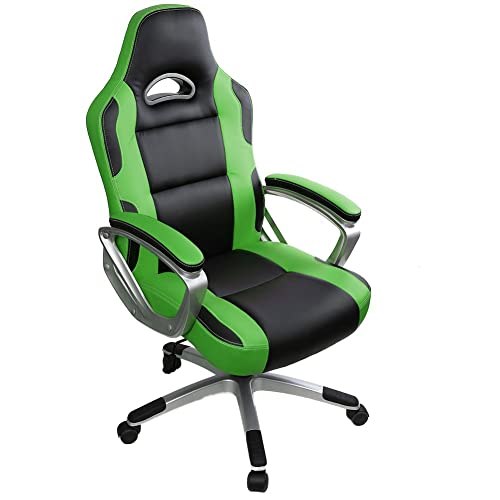 green leather office chair. Gaming Chair,IntimaTe WM Heart High Back Office Chair Desk Racing Reclining Green Leather