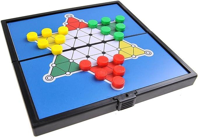 Quantum Abacus Juego de Mesa magnético (versión Super Mini de Viaje): Damas Chinas - Piezas magnéticas, Tablero Plegable, 12,8cm x 12,8cm x 1cm, Mod. SC3636 (DE): Amazon.es: Juguetes y juegos