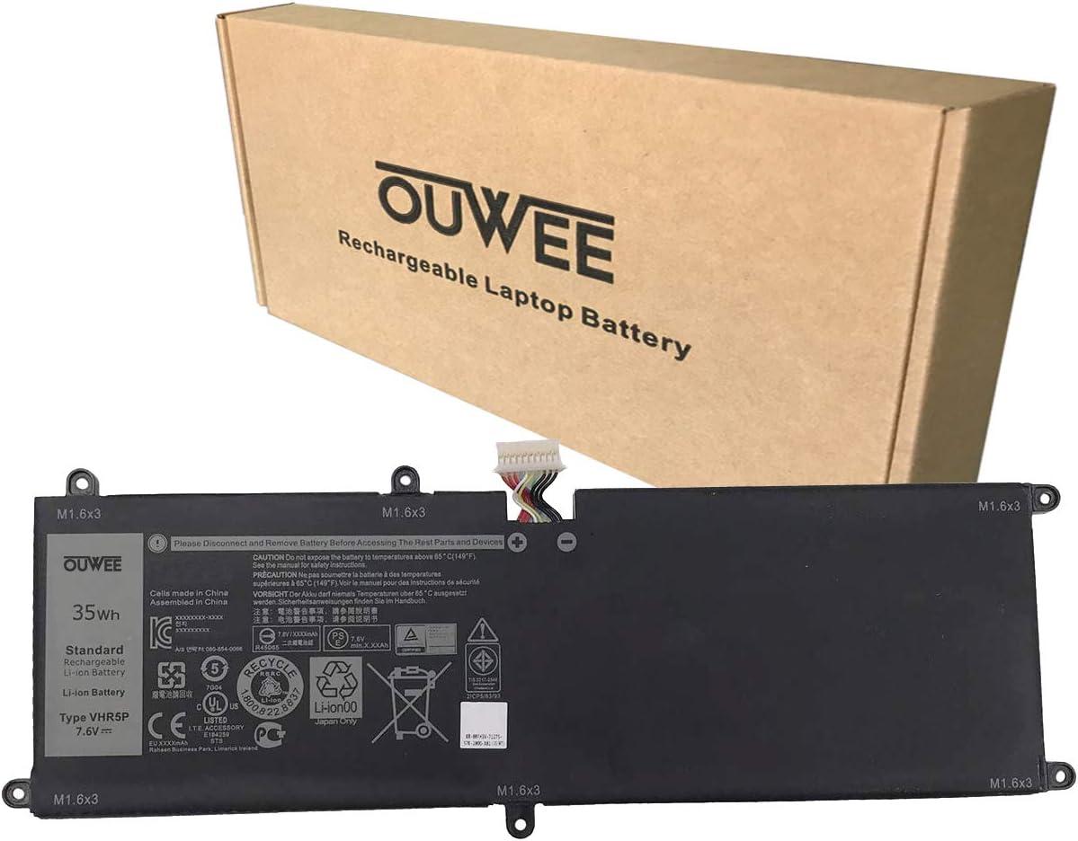 OUWEE VHR5P Laptop Battery Compatible with Dell Latitude 11 5175 5179 2-in-1 Tablet Series Notebook 0VHR5P RHF3V 0RHF3V XRHWG 0XRHWG PRR5V 0PRR5V ZYVP1 0ZYVP1 7.6V 35Wh 4375mAh