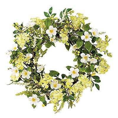 Irish Greenery Spring Wreath, Birchwood, Polyester