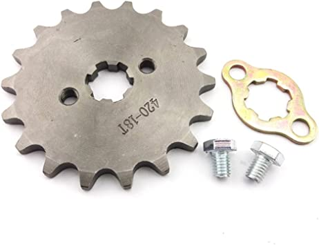 TC-Motor 428 18 Tooth 17mm Front Chain Sprocket Gear For 50cc 70cc 90cc 110cc 125cc 140cc 150cc 160cc Engine ATV Quad Pit Dirt Trail Bike