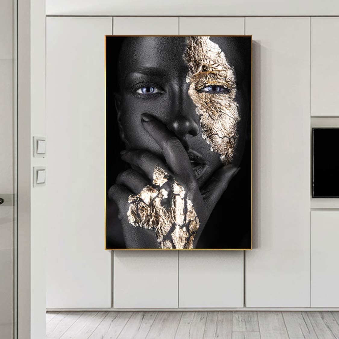 20x40 cm sin marco retrato de labios azules imagen art/ística de pared para sala de estar pintura en lienzo Decoraci/ón moderna para el hogar mujer africana negra carteles e impresiones