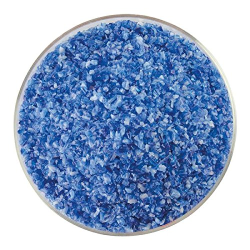 Caribbean Blue Transparent & White Opalescent 2-Color Mix Medium Frit - 4oz - 90COE - Made From Bullseye ()