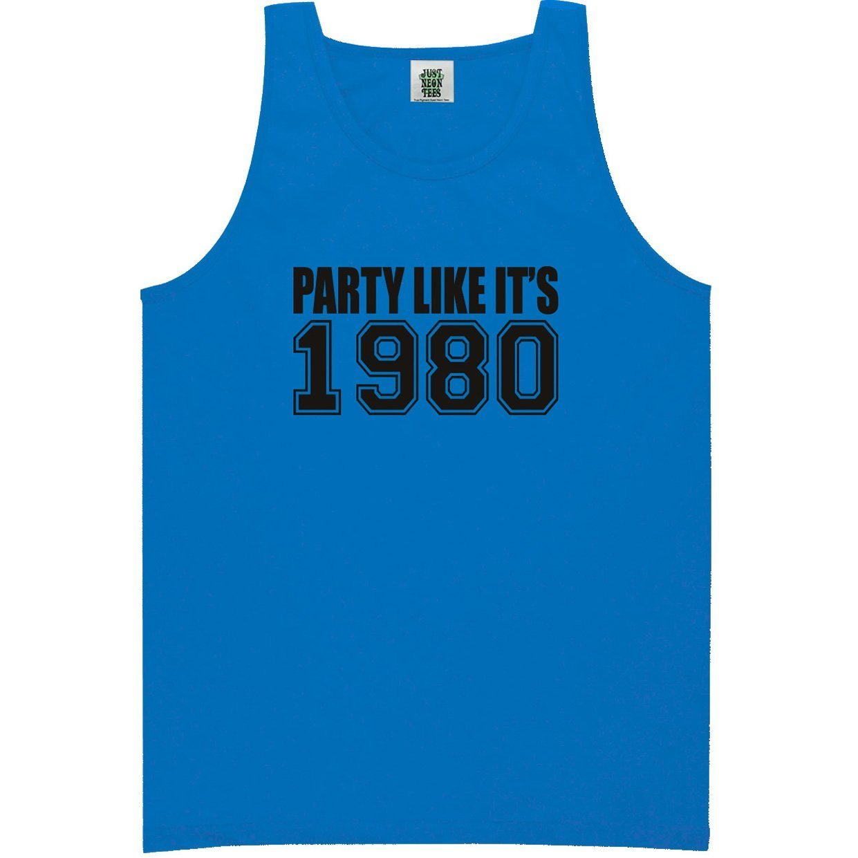 Party Like Its 1980 Bright Neon Tank Top