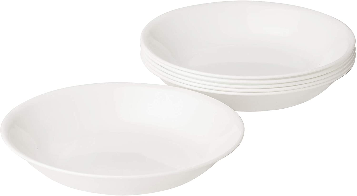 | Corelle Winter Frost White 20-Ounce Bowl Set (6-Piece): Cereal Bowls