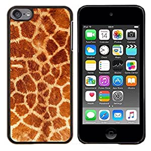 - pink leopard fur pink black animal pattern - - Modelo de la piel protectora de la cubierta del caso FOR Apple iPod Touch 6 6th Generation RetroCandy