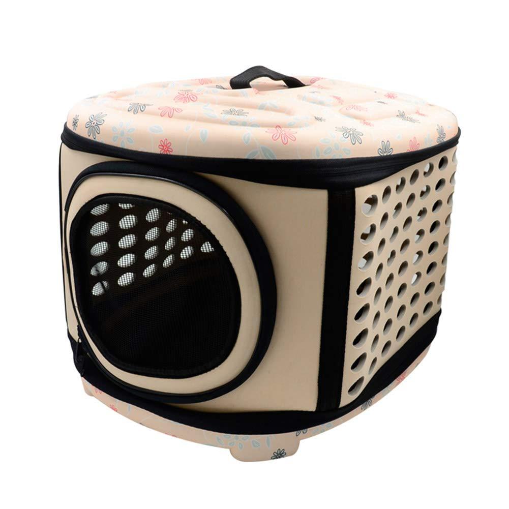 Apricot Large Apricot Large Goalftek Foldable Pet Carrier, Pet Foldable Handbag Carrier Shoulder Bag, Pet Travel Bag, Cat Dog Bed House, Puppy Cave Sleeping Mat Pad Nest Kennel