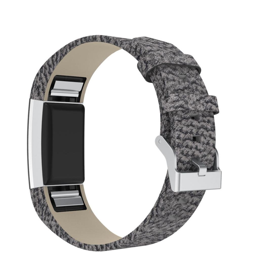 kaicranファッションリストバンドPUレザーWatchブレスレットBand Strap for Fitbit Charge 2バンド One size  B B078Y8DK7L