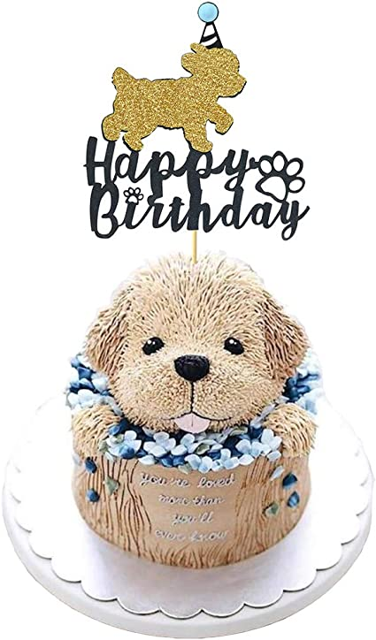 Swell Amazon Com Maydolbone Dog Happy Birthday Cake Toppers Puppy Pet Birthday Cards Printable Opercafe Filternl