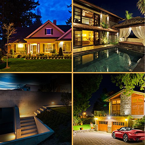 Aootek New Upgraded Solar Lights with Wide Angle Illumination,Outdoor Motion Sensor Waterproof Wall Light Wireless Security Night Light with 3 Modes for Driveway Garden Step Stair Fence Deck 2pack