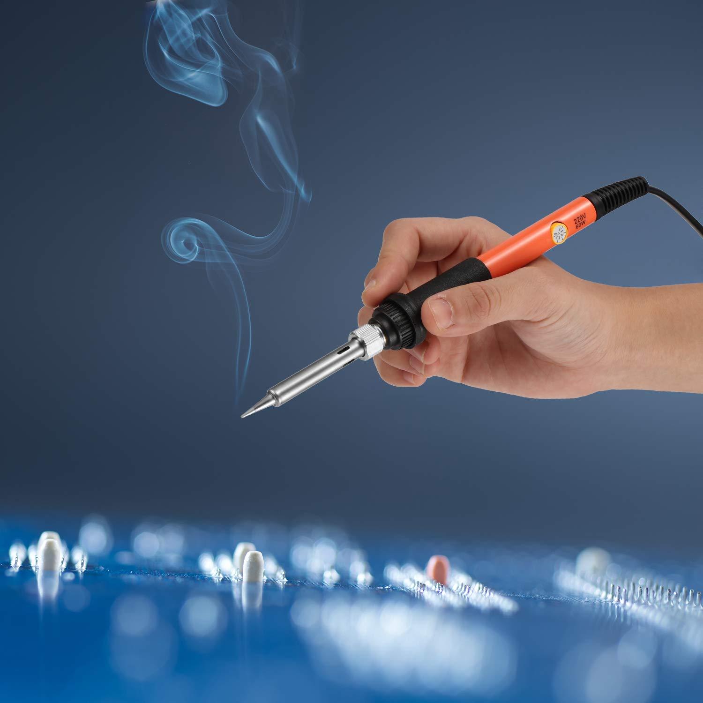 li/ège stylo en fer pour gravure sur bois outils de bricolage pour le travail du bois stylo en fer pour bois Kit de soudure pour bois cuir Koensky 43PCS Kit de pyrogravure pour stylo /à bois 60W