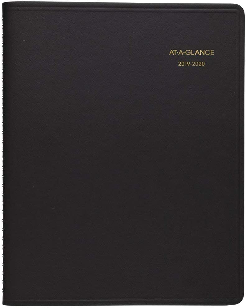 "AT-A-GLANCE Weekly Appointment Book, 2019-2020 Academic Planner,6-3/4"" x 8-3/4"", Medium, Black (7095805)"