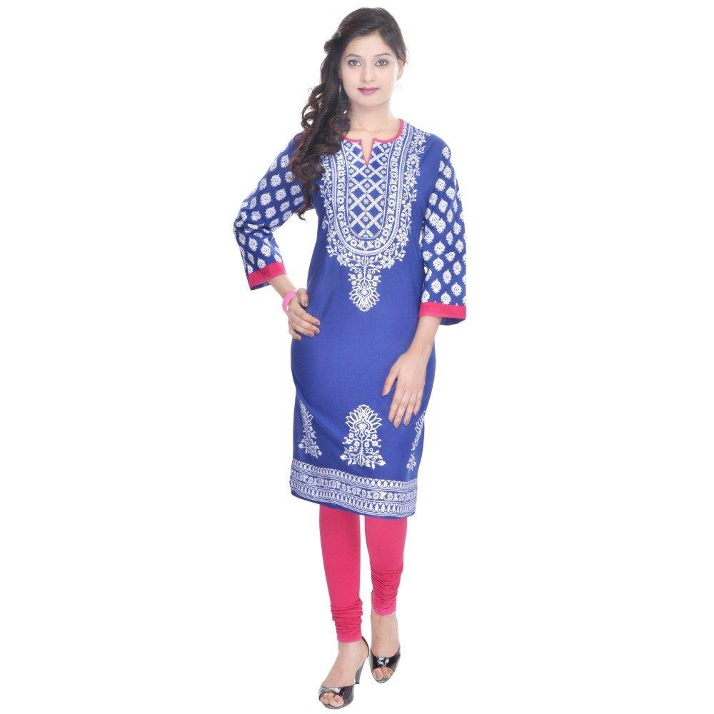 Vihaan Impex Tunika Damen Kleidung Damen Indische Kleidung Kurta Damen Indische Tunika Damen Tunika VIKU2253