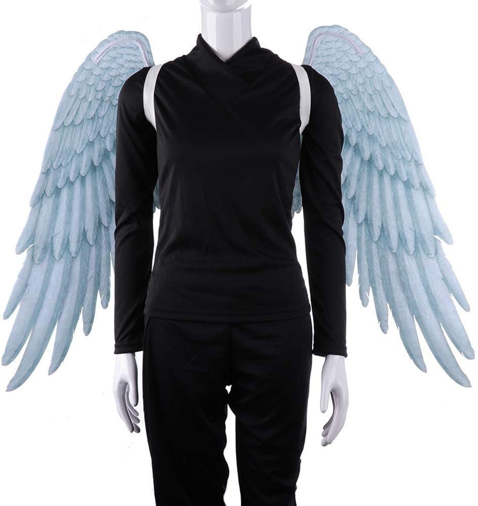 BriskyM Alas de Hadas, Pluma de impresión 3D Extra Grande Alas de ángel de Hadas de Halloween para niños Alas de ángel Adultas Disfraces Pluma de Hadas para Accesorios de Fiesta de Halloween