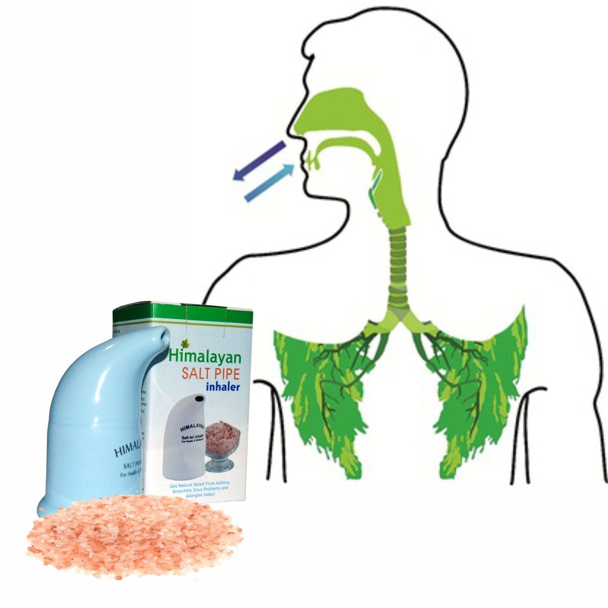 100% Organic Natural Ceramic Salt Inhaler & Pink Himalayan Salt 200grm Salt Free Thai Mad