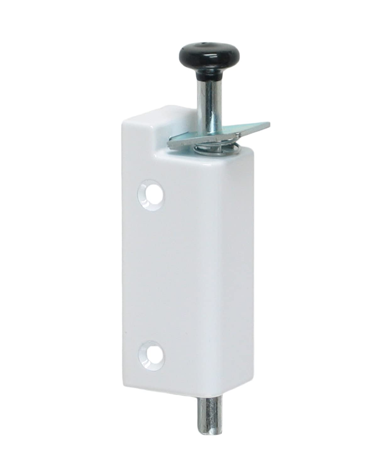 FPL Sliding Door Lock Security Foot Bolt In White   Quickly And Easily Locks  And Unlocks With Your Foot   Door Dead Bolts   Amazon.com
