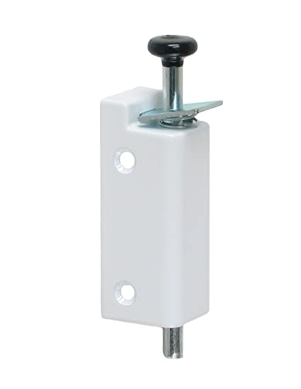 FPL Sliding Door Lock Security Foot Bolt In White   Quickly And Easily Locks  And Unlocks