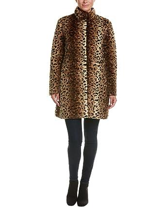 Via Spiga Reverse Faux Fur Printed Coat at Amazon Women s Coats Shop 4bef174a9