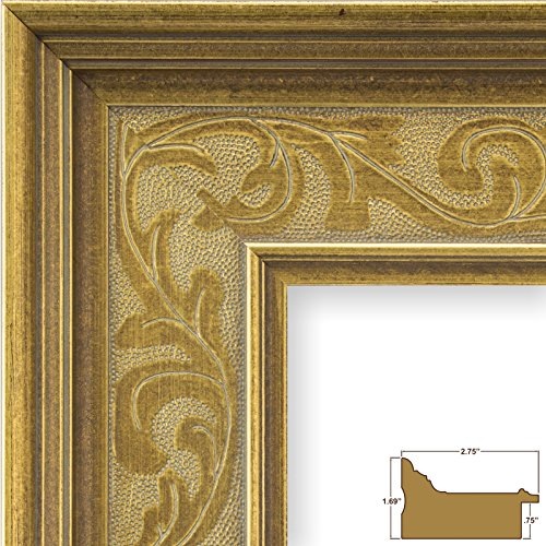Craig Frames Marais II, Gold French Country Style Picture Frame, 24 by 36-Inch by Craig Frames