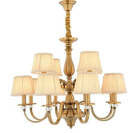 WENSENY Lámparas de araña Araña grande 12 luces Lámpara de ...