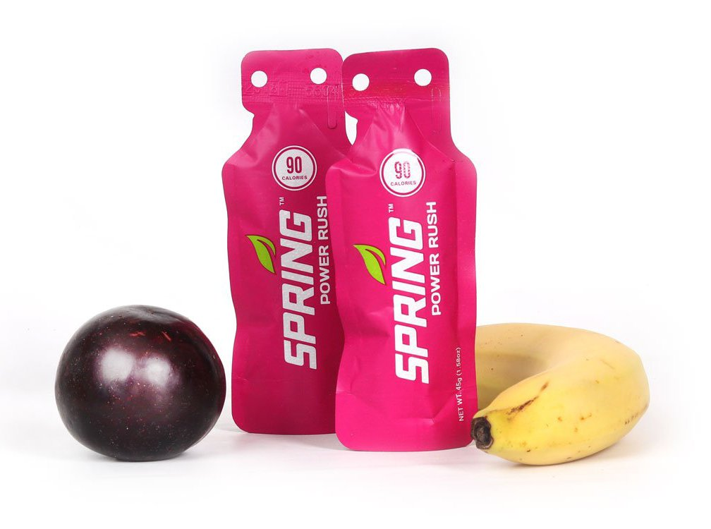 Spring Energy Gel  - Power Rush - 20 Ct - Sports Nutrition Energy Gels for Runners