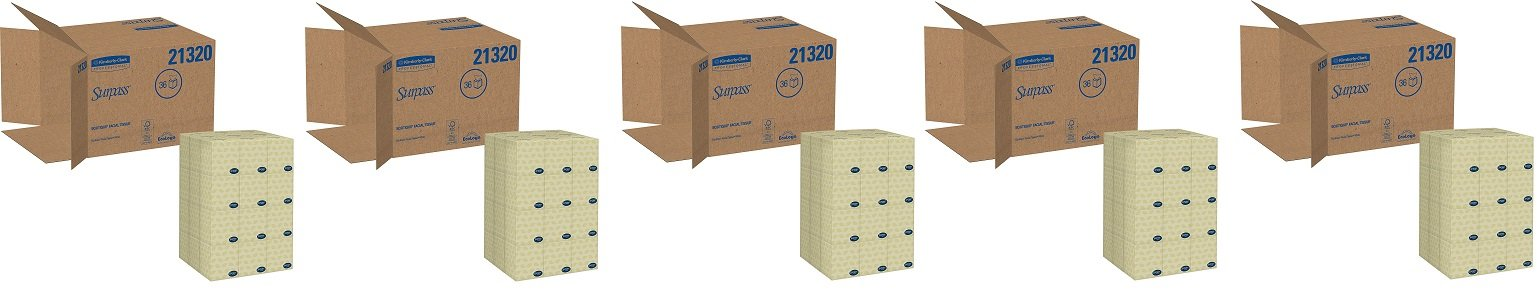 Surpass Boutique Facial Tissue Cube (21320), 2-Ply, White, Unscented, 110 Face Tissue / Box, 36 Boxes / Case (5 CASES OF 36 BOXES) by Kimberly-Clark Professional