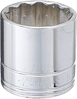 product image for SK Professional Tools 2324 3/8 in. Drive 12-Point Metric Standard Chrome Socket – 24 mm, Cold Forged Steel Socket with SuperKrome Finish, Made in USA