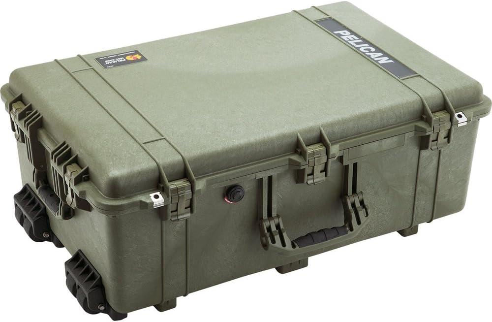 Pelican 1650 Camera Case With Foam, OD Green