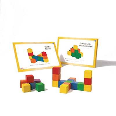 Colored Wooden Counting Cubes (Set of 136): Toys & Games
