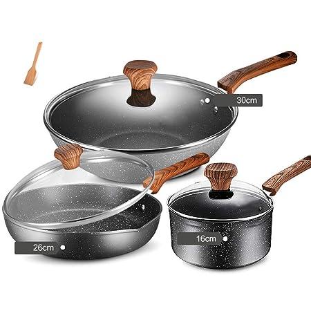 AA-Cookware set CHJTC Juego de Utensilios de Cocina sartén ...