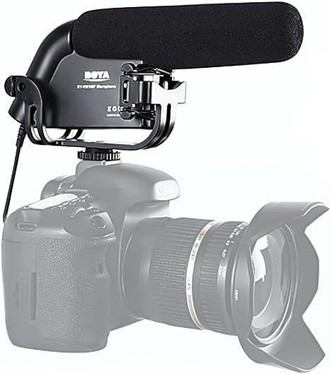 BOYA BY-VM190P Micrófono de condensador de video de escopeta para ...