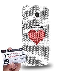 Case88 [Motorola Moto G (2nd Gen)] 3D impresa Carcasa/Funda dura para & Tarjeta de garantía - Art Fashion Angle Heart Pattern