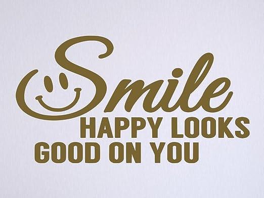 com vinyl quote me smile happy looks good on you vinyl