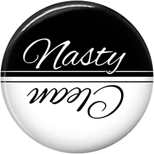 Clean Nasty Dishwasher Magnet Sign Indicator Black And White (Black White)