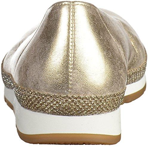 Gabor Women's Comfort Ballet Flats Silver (Platino Glamour) Q4wBJ