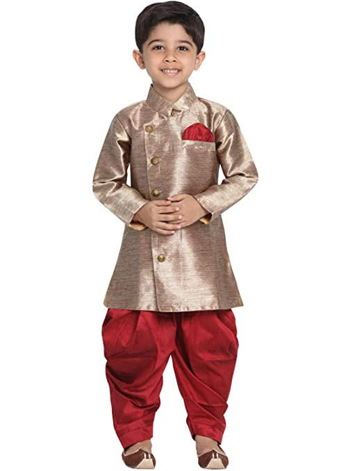 Details about  /Indian ethnic  Angrakha And Dhoti Set for boys  in Maroon for 3Tand 4T NWT!!