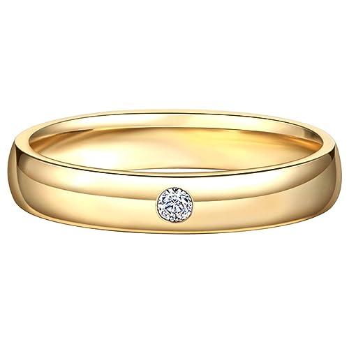 Blisfille Anillos de Compromiso Infinito Joyería Anillo 18 Kilates de Diamante Anillo de Oro Rosa,Tamaño Personalizable: Amazon.es: Joyería
