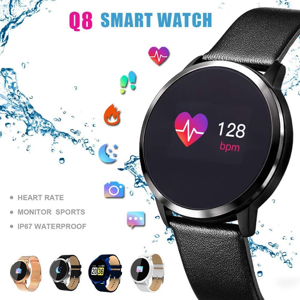 ACZZ Smart Watch Q8 2019,Men Women Outdoor Smart Watch ...