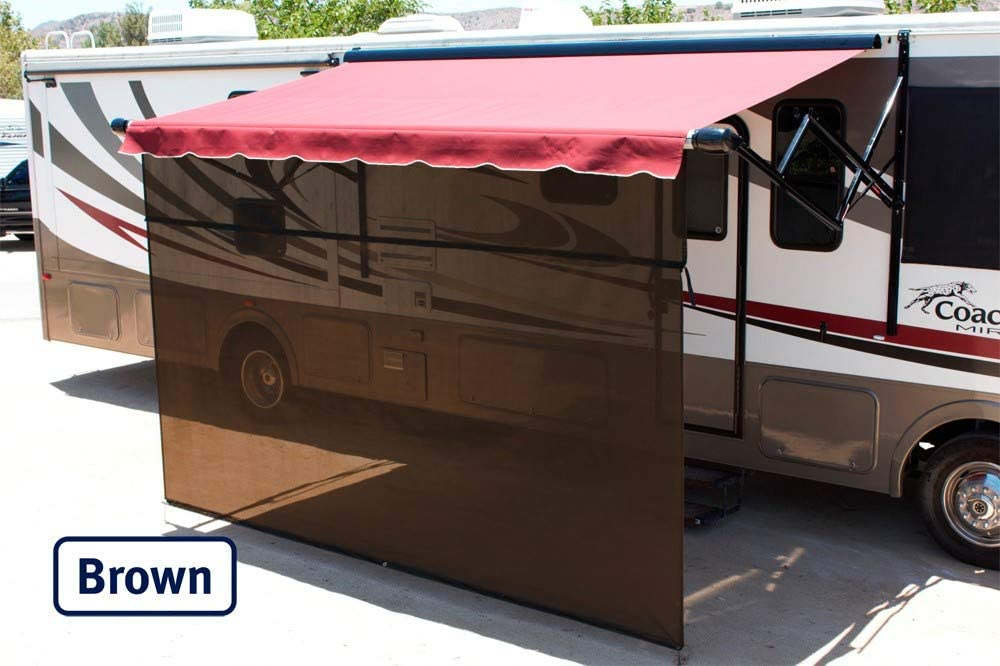 Shade Pro Vista Shade – RV Awning Sunscreen 85 Solar Mesh 19 x 10 , Brown