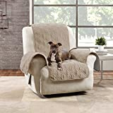 SURE FIT Quilted Pet Throw - Chair Slipcover - Taupe