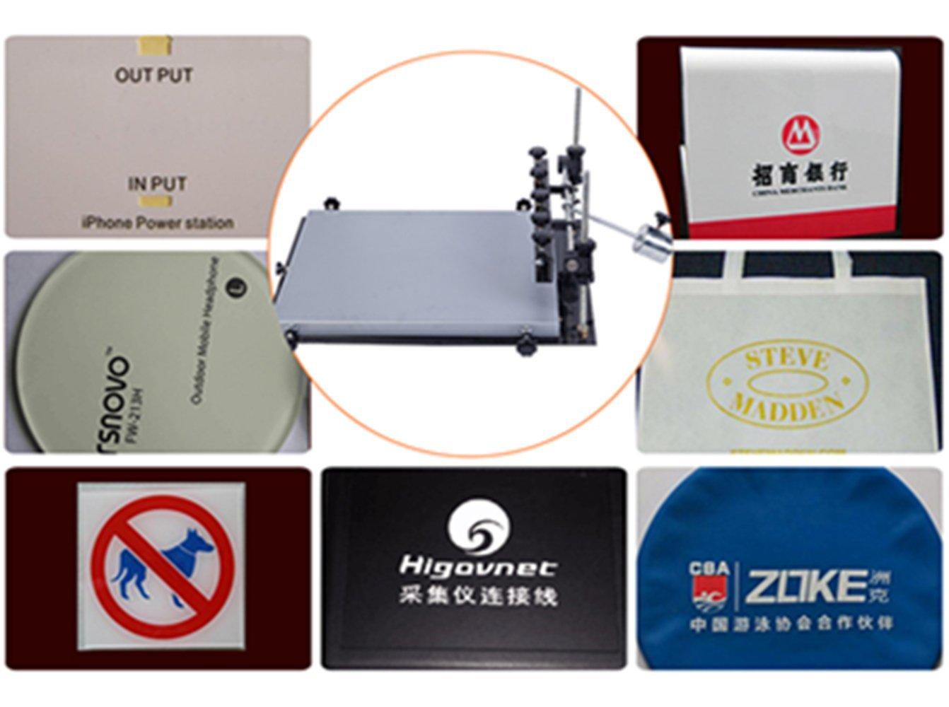 CGOLDENWALL - Mesa de impresión manual para soldador SMT con impresión de pasta de aluminio, máquina de impresión para serigrafía Small: 32 * 22cm: ...