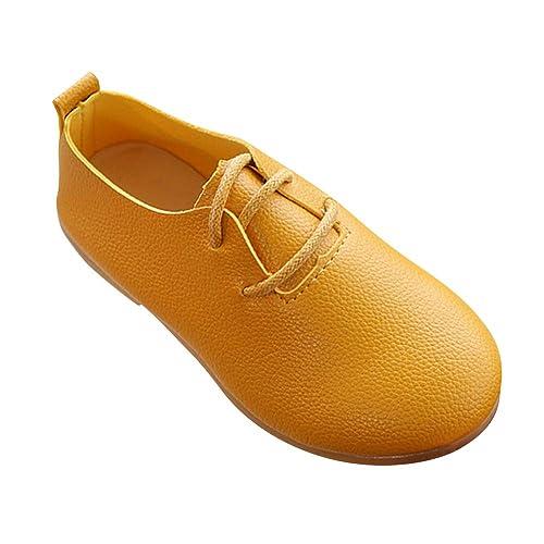 Yudesun Zapatos Mocasines Niña - Zapatos de Cuero para Niños Cabeza Redonda Cómodas Ocio Princesa Suave Escolar Zapatos de Vestir: Amazon.es: Zapatos y ...